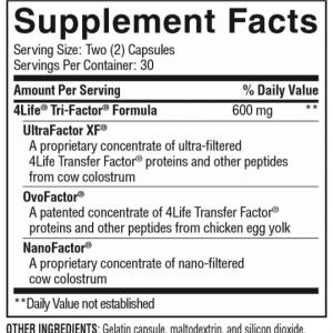4Life® Transfer Factor®  Tri-Factor® Formula