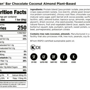 Bars Dairy-Free – Chocolate Coconut Almond
