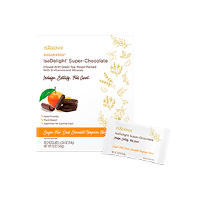 IsaDelight Super-Chocolate – Sugar Free Dark Chocolate Tangerine