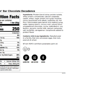 IsaLean Bars Chocolate Decadence