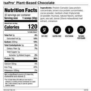 IsaPro® Plant-Based Protein Chocolate
